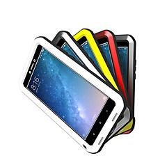 Недорогие Чехлы и кейсы для Xiaomi-Кейс для Назначение Xiaomi Mi Max 2 Вода / Грязь / Надежная защита от повреждений Чехол Сплошной цвет Твердый Металл для Xiaomi Mi Max 2