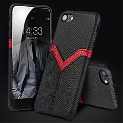 Недорогие Кейсы для iPhone-Кейс для Назначение Apple iPhone 6 iPhone 6 Plus Защита от удара Кейс на заднюю панель Полосы / волосы Твердый Настоящая кожа для iPhone