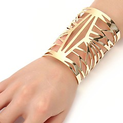 cheap Bracelets-Women's Geometric Cuff Bracelet - Fashion, Oversized Bracelet Gold / Silver For Ceremony / Evening Party