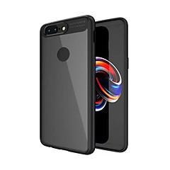 tanie Inne etui-Kılıf Na OnePlus OnePlus 5T 5 Odporne na wstrząsy Półprzezroczyste Czarne etui Solid Color Twarde PC na One Plus 5 OnePlus 5T