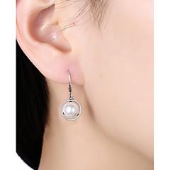 preiswerte Ohrringe-Damen Perle Tropfen-Ohrringe - Künstliche Perle, S925 Sterling Silber damas, Grundlegend Schmuck Weiß Für Alltag Büro & Karriere