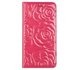 Недорогие Кейсы для iPhone-Кейс для Назначение Apple iPhone 6 iPhone 6 Plus Бумажник для карт Защита от удара Флип Чехол Сплошной цвет Твердый Настоящая кожа для