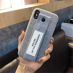 Недорогие Кейсы для iPhone 7 Plus-Кейс для Назначение Apple iPhone X iPhone 7 Plus С узором Кейс на заднюю панель Сплошной цвет Мягкий текстильный для iPhone X iPhone 8