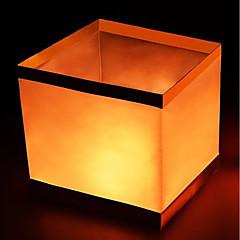 お買い得  LED アイデアライト-1個 LEDナイトライト 温白色 クールホワイト レッド ボタン電池駆動 フローティングウォーターランタン 願う 誕生日 ウェディング LEDライト パーライト