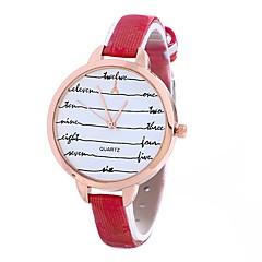 お買い得  レディース腕時計-Xu™ 女性用 リストウォッチ 中国 カジュアルウォッチ PU バンド 花型 / ファッション ブラック / ブルー / レッド / 1年間