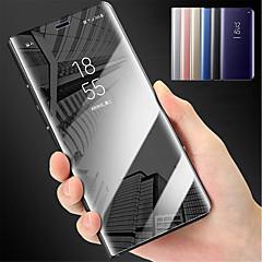 Χαμηλού Κόστους Galaxy S6 Θήκες / Καλύμματα-tok Για Samsung Galaxy S9 S9 Plus με βάση στήριξης Καθρέφτης Πλήρης Θήκη Μονόχρωμο Σκληρή PC για S9 Plus S9 S8 Plus S8 S7 edge S7 S6 edge