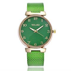 preiswerte Damenuhren-Damen Modeuhr Quartz Armbanduhren für den Alltag Plastic Band Analog Minimalistisch Schwarz / Weiß / Blau - Grün Blau Rosa
