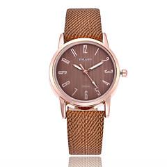 preiswerte Damenuhren-Damen Modeuhr Quartz Armbanduhren für den Alltag PU Band Analog Minimalistisch Schwarz / Weiß / Blau - Rot Blau Rosa