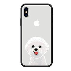 Недорогие Кейсы для iPhone 6 Plus-Кейс для Назначение Apple iPhone X / iPhone 8 Plus С узором Кейс на заднюю панель С собакой / Животное / Мультипликация Твердый Акрил для iPhone X / iPhone 8 Pluss / iPhone 8
