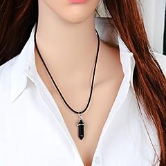 Недорогие Ожерелья-Кристалл Геометрический принт Ожерелья с подвесками - Цилиндрическая Мода Белый, Черный, Синий 42 cm Ожерелье Бижутерия Назначение Повседневные, На выход
