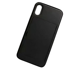 Недорогие Кейсы для iPhone 6-Кейс для Назначение Apple iPhone X iPhone 8 Plus IMD Флип броня Кейс на заднюю панель Однотонный Твердый ТПУ для iPhone X iPhone 8 Pluss