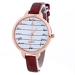 お買い得  レディース腕時計-Xu™ 女性用 クォーツ リストウォッチ 中国 カジュアルウォッチ PU バンド 花型 ファッション ブラック ブルー レッド ブラウン ベージュ