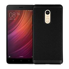 Недорогие Чехлы и кейсы для Xiaomi-Кейс для Назначение Xiaomi Redmi Note 4X Redmi Note 4 Матовое Кейс на заднюю панель Однотонный Твердый ПК для Xiaomi Redmi Note 4X Xiaomi