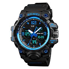 お買い得  メンズ腕時計-SKMEI 男性用 デジタル スポーツウォッチ 日本産 アラーム クロノグラフ付き 耐水 ストップウォッチ 2タイムゾーン PU バンド カジュアル ファッション ブラック ブラウン グリーン