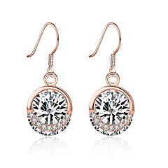 preiswerte Ohrringe-Damen Kubikzirkonia Tropfen-Ohrringe - S925 Sterling Silber Modisch Rotgold Für Party Alltag