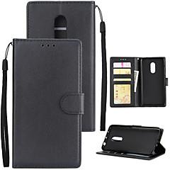 Недорогие Чехлы и кейсы для Xiaomi-Кейс для Назначение Xiaomi Redmi 5 Plus Redmi 5A Бумажник для карт Кошелек Защита от удара Флип Чехол Однотонный Твердый Кожа PU для