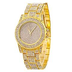 お買い得  レディース腕時計-女性用 クォーツ 宝飾腕時計 ファッションウォッチ 中国 大きめ文字盤 模造ダイヤモンド 合金 バンド クリエイティブ カジュアル シルバー ゴールド ローズゴールド