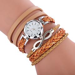 preiswerte Damenuhren-Damen Quartz Modeuhr Chinesisch Armbanduhren für den Alltag PU Band Böhmische Modisch Schwarz Weiß Blau Rot Braun