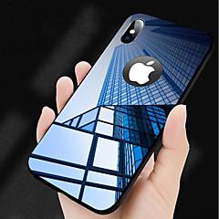 Недорогие Кейсы для iPhone X-Кейс для Назначение Apple iPhone X Зеркальная поверхность Кейс на заднюю панель Однотонный Твердый Закаленное стекло для iPhone X iPhone