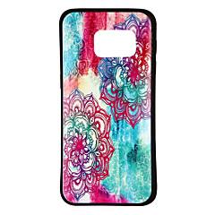tanie Galaxy S6 Etui / Pokrowce-Kılıf Na Samsung Galaxy S8 S7 Wzór Czarne etui Przejście kolorów Kwiaty Miękkie TPU na S8 S7 edge S7 S6 edge plus S6 edge S6