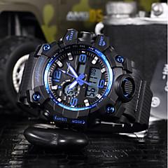 preiswerte Herrenuhren-SHIFENMEI Herrn digital Sportuhr Japanisch Kalender Wasserdicht Großes Ziffernblatt Armbanduhren für den Alltag Plastic Band Luxus Modisch