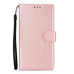 Недорогие Чехлы и кейсы для Xiaomi-Кейс для Назначение Xiaomi Redmi Примечание 5A Redmi Note 4X Бумажник для карт Кошелек со стендом Флип Чехол Однотонный Твердый Кожа PU