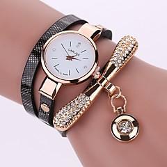 preiswerte Damenuhren-Damen damas Armbanduhren für den Alltag Armband-Uhr Simulierter Diamant Uhr Quartz Armbanduhren für den Alltag Imitation Diamant PU Band Analog Freizeit Modisch Schwarz / Weiß / Blau - Rot Grün Blau