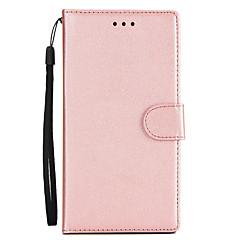 Недорогие Чехлы и кейсы для Sony-Кейс для Назначение Sony Xperia XA2 Xperia XA2 Ultra Бумажник для карт Кошелек со стендом Флип Чехол Однотонный Твердый Кожа PU для