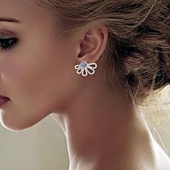 preiswerte Ohrringe-Damen Ohrstecker / Gestlyte Ohrringe Vorne Hinten - Blumen / Botanik, Blume Einfach, Klassisch Gold / Silber Für Geschenk / Alltag / Strasse