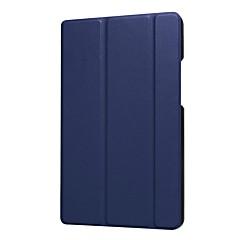 お買い得  タブレット用ケース-ケース 用途 Huawei MediaPad MediaPad T3 8.0 スタンド付き フルボディーケース ソリッド ハード PUレザー のために Huawei MediaPad T3 8.0