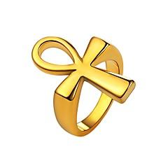preiswerte Ringe-Herrn Knöchel-Ring - Edelstahl Kreuz Modisch 7 / 8 / 9 / 10 / 11 Gold / Schwarz / Silber Für Alltag