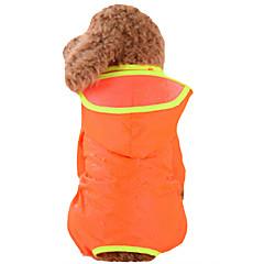 お買い得  犬用ウェア&アクセサリー-犬 レインコート 犬用ウェア ソリッド イエロー レッド グリーン ブルー ピンク ナイロン コスチューム ペット用 男性用 女性用 防水