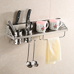 お買い得  キッチン収納-キッチン組織 ラック&ホルダー ステンレス 使いやすい 1個