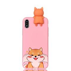 Недорогие Кейсы для iPhone 7 Plus-Кейс для Назначение Apple iPhone X iPhone 8 С узором Своими руками Кейс на заднюю панель С собакой Мягкий ТПУ для iPhone X iPhone 8 Pluss