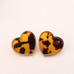 Недорогие Женские украшения-Серьги-гвоздики - Сердце Простой, европейский, Мода Белый / Желтый Назначение Повседневные