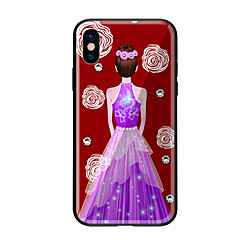 Недорогие Кейсы для iPhone 6 Plus-Кейс для Назначение Apple iPhone X iPhone 8 С узором Кейс на заднюю панель Соблазнительная девушка Твердый Закаленное стекло для iPhone X