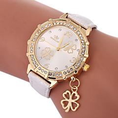 お買い得  レディース腕時計-女性用 クォーツ ファッションウォッチ 中国 カジュアルウォッチ PU バンド チャーム ファッション ブラック 白 ブルー ゴールド パープル ローズ