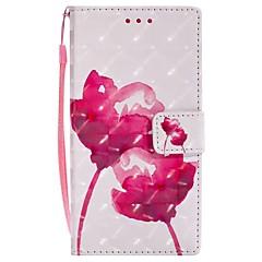 Недорогие Чехлы и кейсы для Sony-Кейс для Назначение Sony Xperia XZ Xperia XA1 Бумажник для карт Кошелек со стендом Флип Магнитный Чехол Цветы Твердый Кожа PU для Sony