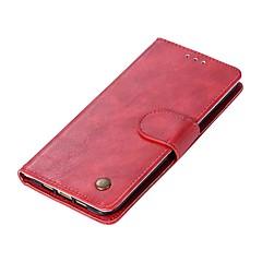 Недорогие Чехлы и кейсы для Xiaomi-Кейс для Назначение Xiaomi Mi 6 Mi 5s Бумажник для карт Кошелек Флип Магнитный Чехол Однотонный Твердый Кожа PU для Xiaomi Mi 6 Xiaomi Mi