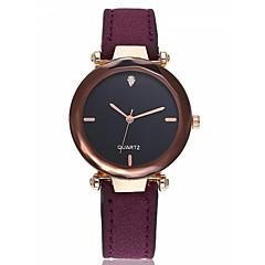 お買い得  レディース腕時計-女性用 ブレスレットウォッチ 模造ダイヤモンド レザー バンド ハンズ バングル エレガント ブラック / レッド / グリーン - レッド グリーン ピンク 1年間 電池寿命