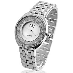 お買い得  レディース腕時計-ASJ 女性用 クォーツ ドレスウォッチ 日本産 模造ダイヤモンド カジュアルウォッチ 合金 バンド ぜいたく Elegant シルバー ゴールド ローズゴールド