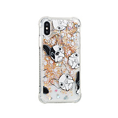 economico Custodie per iPhone 5S / SE-Custodia Per Apple iPhone X iPhone 8 Liquido a cascata Fantasia / disegno Per retro Con cagnolino Morbido TPU per iPhone 8 Plus iPhone 8