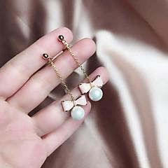 preiswerte Ohrringe-Lang Tropfen-Ohrringe - Perle Schleife Einfach, Süß, Elegant Rosa Für Geschenk Alltag