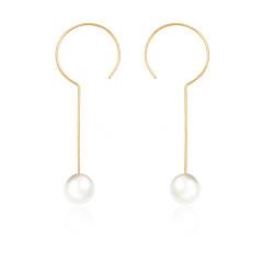 お買い得  イヤリング-女性用 ドロップイヤリング - 人造真珠 シンプル, 甘い ゴールド / シルバー 用途 パーティー / ワーク