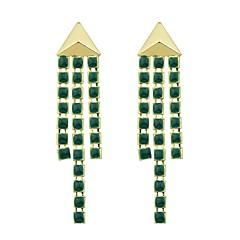 Недорогие Женские украшения-Серьги-слезки - Мода Зеленый Назначение Подарок Свидание