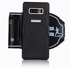 Недорогие Универсальные чехлы и сумочки-Кейс для Назначение SSamsung Galaxy Note 9 Note 8 Спортивныеповязки Бумажник для карт Защита от удара С ремешком на руку Однотонный