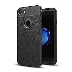 Недорогие Кейсы для iPhone 5-Кейс для Назначение Apple iPhone X iPhone 8 Рельефный Кейс на заднюю панель Однотонный Мягкий ТПУ для iPhone X iPhone 8 Pluss iPhone 8