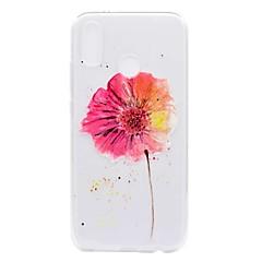billige Etuier/covers til Huawei-Etui Til Huawei P20 lite P8 Lite (2017) Transparent Mønster Bagcover Blomst Blødt TPU for Huawei P20 lite Huawei P20 Pro Huawei P20 P10