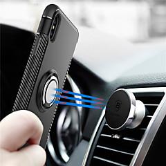 Недорогие Кейсы для iPhone X-Кейс для Назначение Apple iPhone X / iPhone 8 / iPhone XS Кольца-держатели Кейс на заднюю панель броня Твердый ПК для iPhone XS / iPhone XR / iPhone XS Max