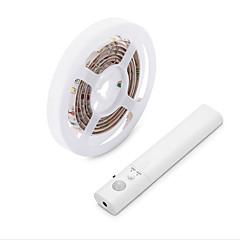 preiswerte LED Lichtstreifen-BRELONG® 1.5 Lichtsets 30 LEDs Warmes Weiß Selbstklebend / Körpersensor 5 V 1set